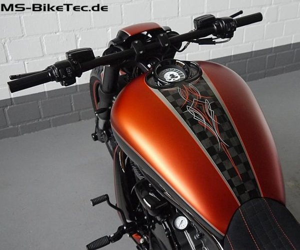 "Airbox-Cover ""MS-bull"" V Rod ® / Night Rod Special ® mit Tachoausschnitt"