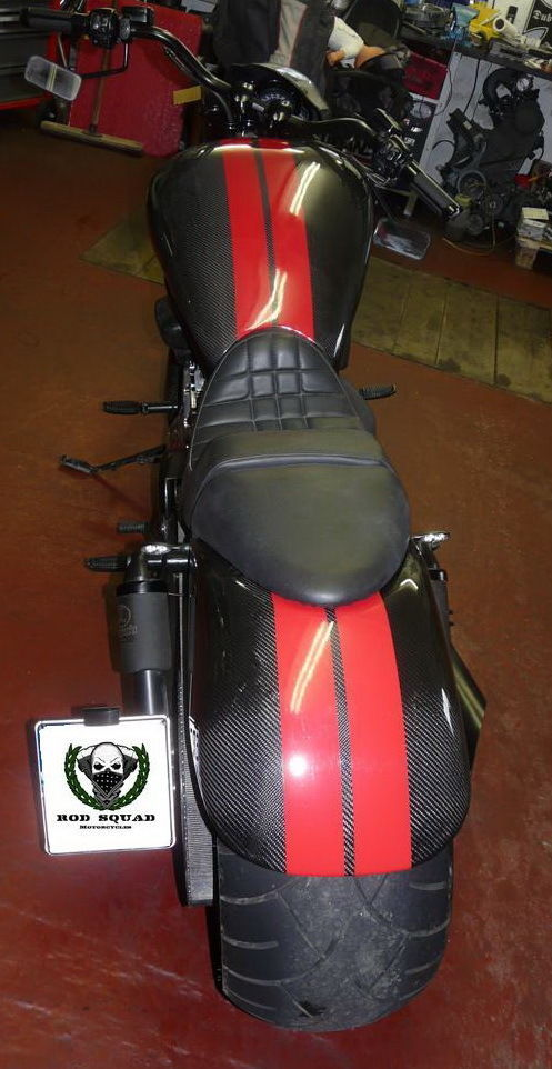 """Fat Ass"" Rear Fender - Kotflügel für Harley Davidson® VRSC® V-Rod® Nightrod® CARBON"